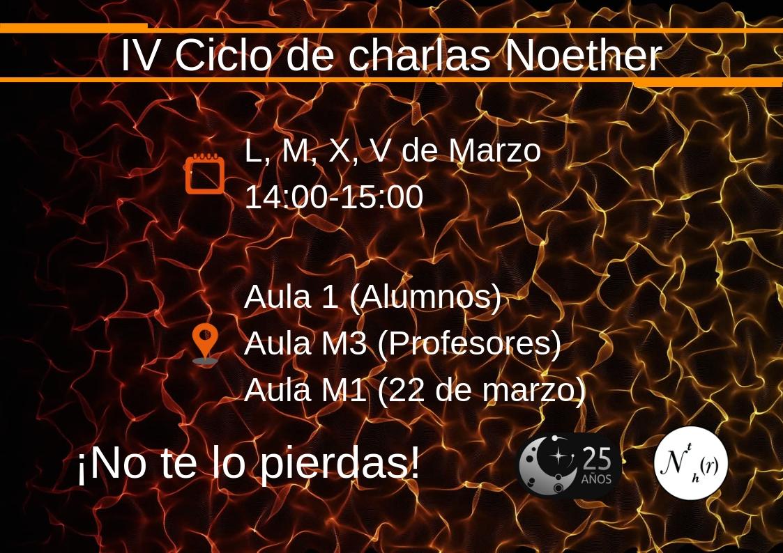 Cuarto ciclode charlas Noether, cartel informativo